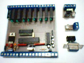 PIC16F87X İle Programlanabilir Otomasyon (Elektronik PLC)  Kartı