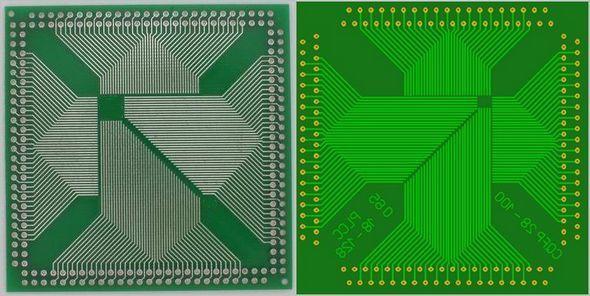 PLCC CQFP DIP Converter PCB  plcc cqfp adapter