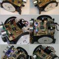 Atmega16 CNY70 SFR05 Ultrasonik Sensörlü Çizgi İzleyen Robot