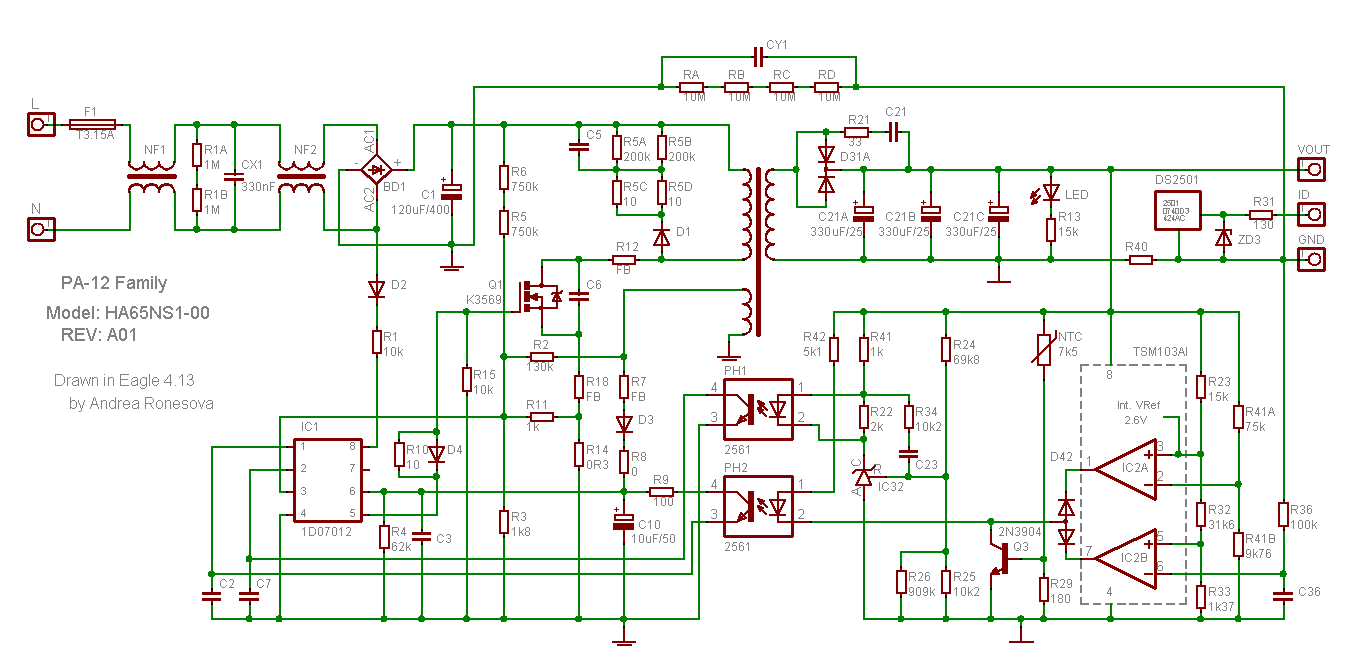 Dell PA-12 Power Supply Schematic - Electronics Projects Circuits