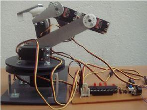 Seri Port Kontrollü 3 Eksenli Robot Kol Projesi PIC16F877 JAL