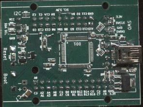 STM32F103RBT6 QFP64 İçin Deney Kartı
