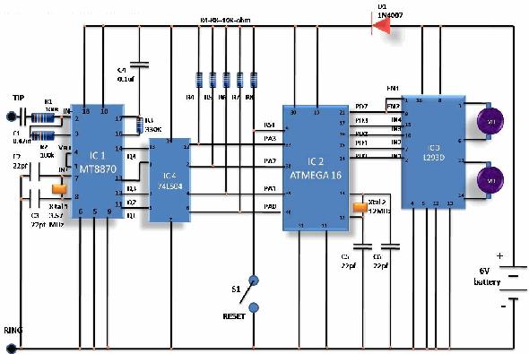 gsm-robot-l293-dtmf-robots-remote-mobile