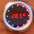 PIC16F648 Led Animated Clock Circuit Picbasic led alert round the clock with seconds animation leds circuit 1 120x120
