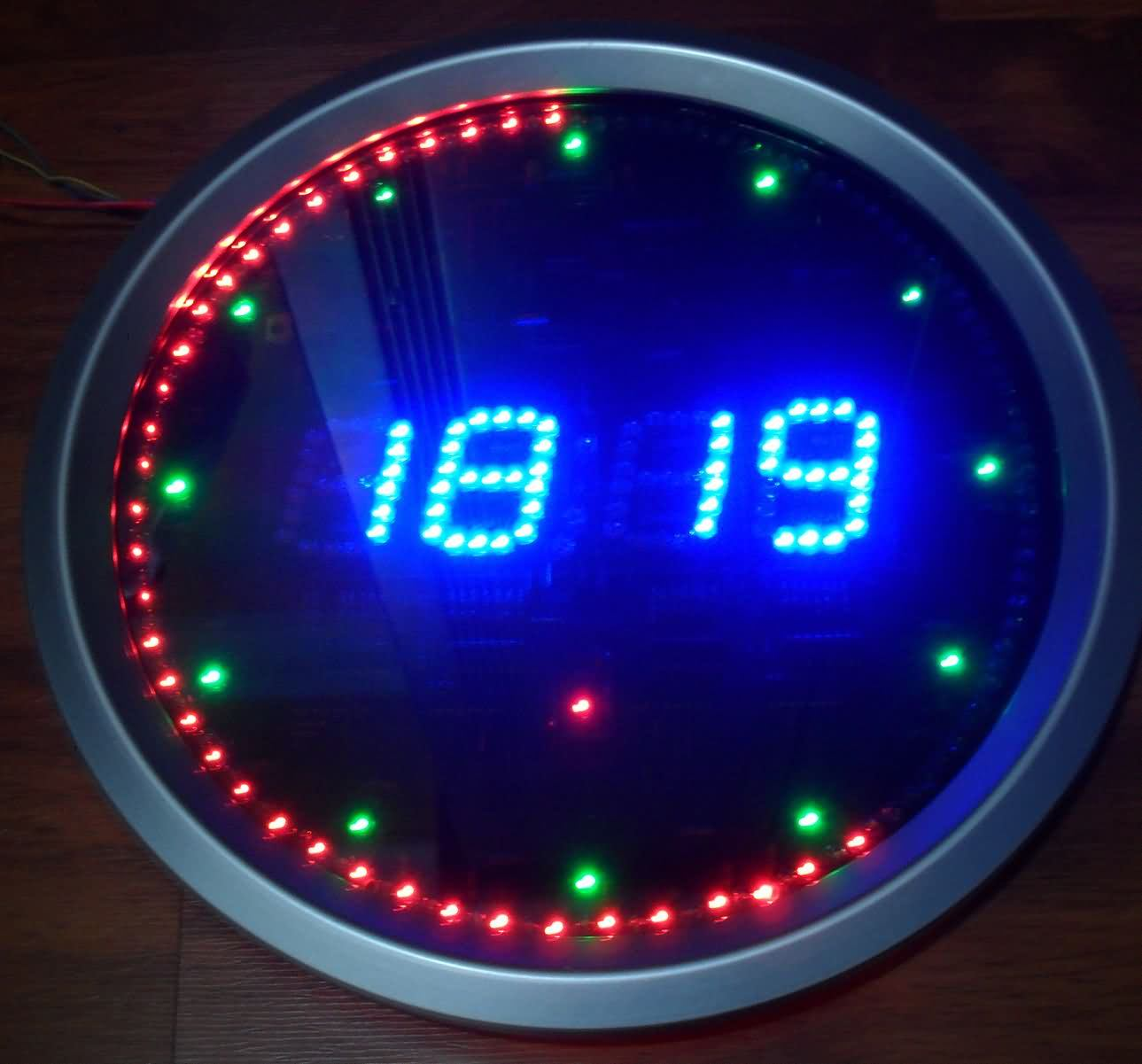 pic16f648 led animated clock circuit picbasic power amplifier circuit