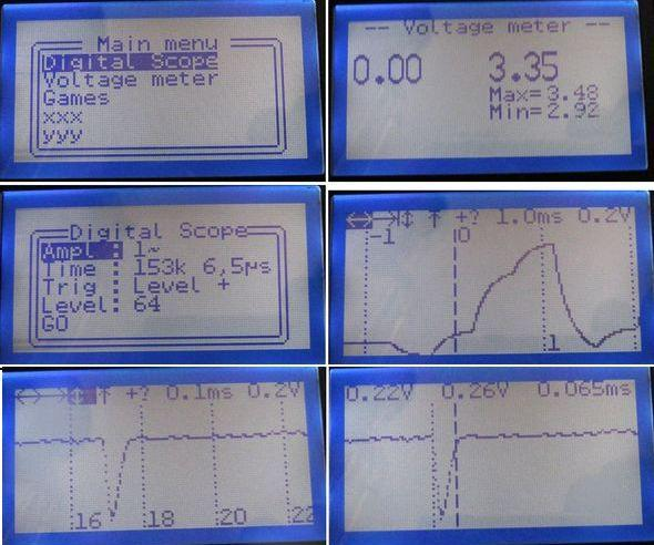 LCD Oscilloscope Circuit Project PIC18F4520 pic18f4520 scope ca3160 74hc595 boot loader mcp6s26