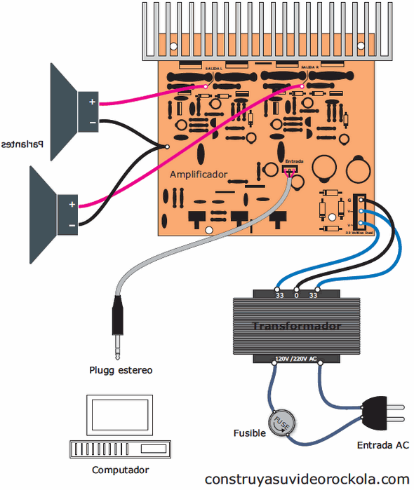 anfi-baglantisi-trafo-ses-pc-amplifier-connection-power