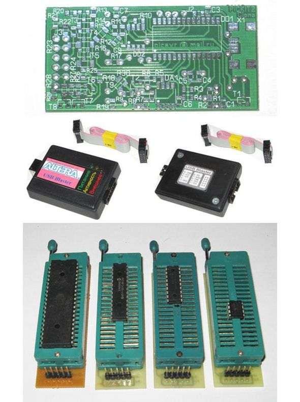 pickit-2-pickit-3-avrisp-mkii-usb-blaster-programmer-clone-pcb-dip-socket