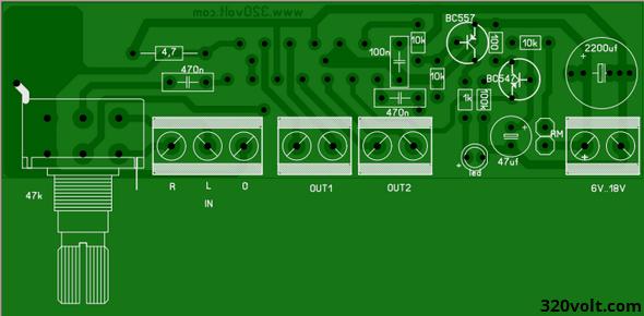 Car Amplifier Circuit TDA8560Q 2X40W tda8560q 2x40 watt btl oto anfi stereo potans