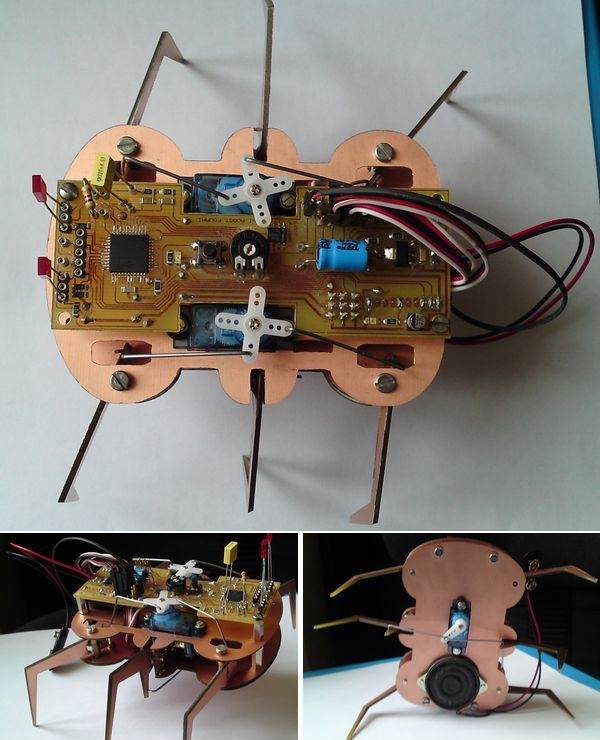 PIC18F46K20 6 Legged Robot Project hexapod robot