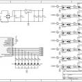 PIC16F628A 8 Kanal 24 Amper Triyaklı Animasyon Kartı