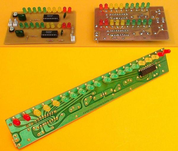 Led VU Meter Circuit LM3915 vumetro vumeter circuit lm3915 led vu