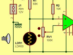 741 Op Amplı 12V Karanlık Anahtarı