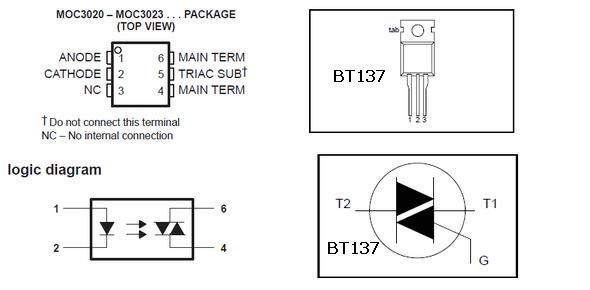 moc3020-pinout-bt137-pinout