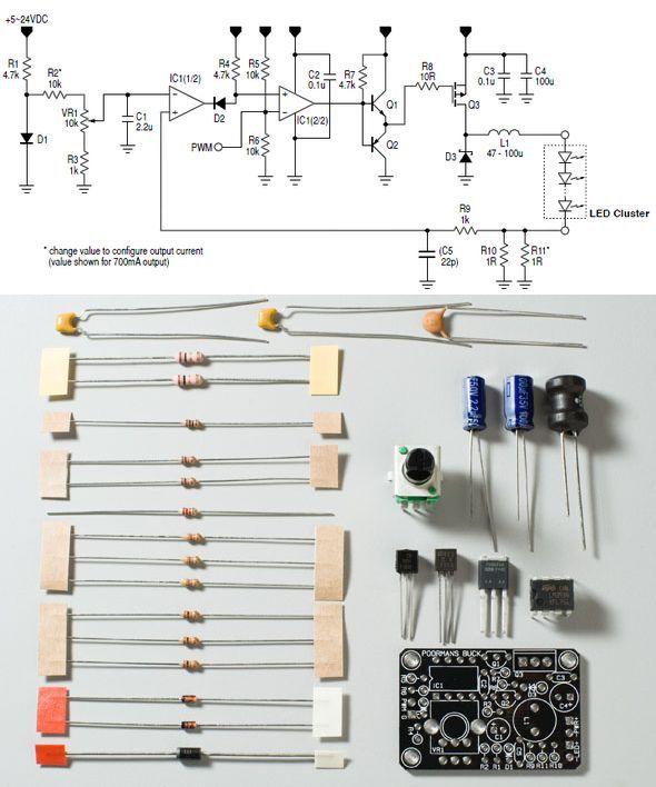 LED Trafo mit 350mA Konstantstrom 3W für 1W LEDs 3-11V Netzteil driver
