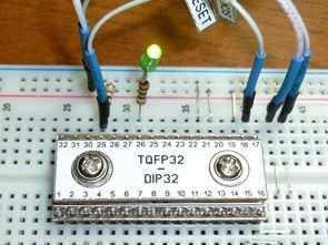 TQFP32 Çevirici DIP32 Adaptör PCB (Lehimle  gerekmez)