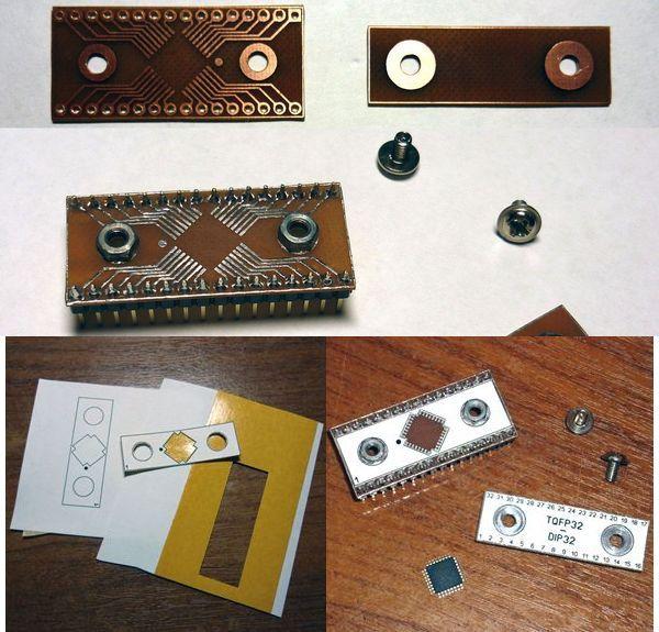 Handmade TQFP32 Converter DIP32 Adapter To PCB tqfp32 dip32