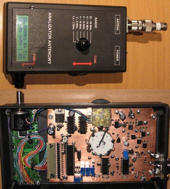 Antenna Analyzer Circuit  31mhz 1.3MHz  PIC16F873 amateur radio antenna analyzer frequency counting