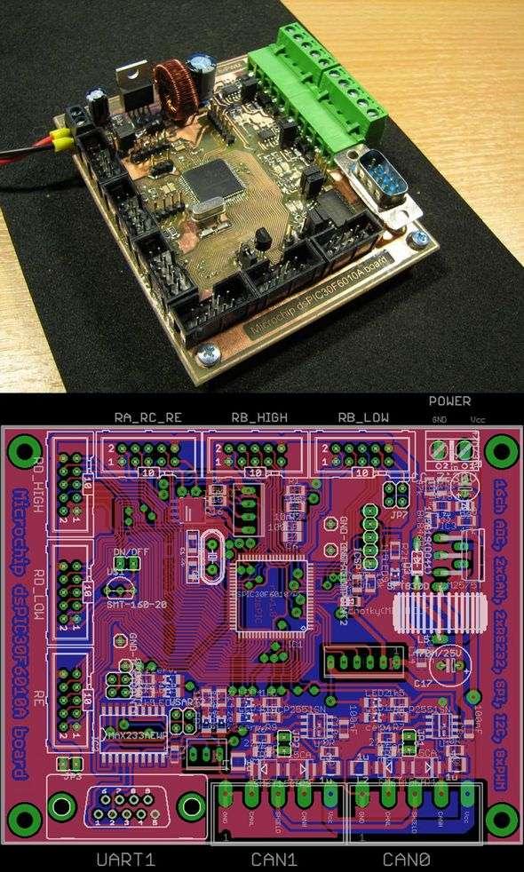 dspic30f6010a-microchip-development-board