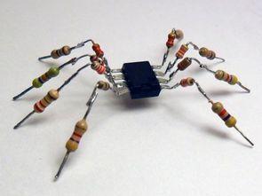 Elektronik komponentler ile hazırlanan ilginç figürler 2