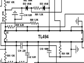 Green Tech TL494 300W PFC P4 ATX Güç kaynağı şeması