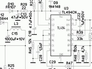 Green Tech 300W P4 ATX UC3842 Güç kaynağı şeması
