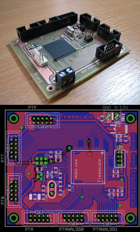 motorola-hcs12-series-mc9s12dp512-development-board