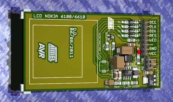 LCD Module Board Nokia nokia 6100 knock off nokia lcd breakout board
