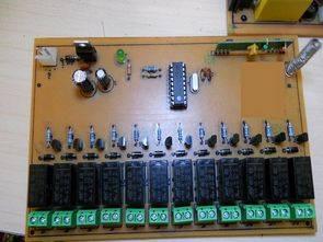 PIC16F84 433.92 MHz 12 Kanal RF Röle Kontrol
