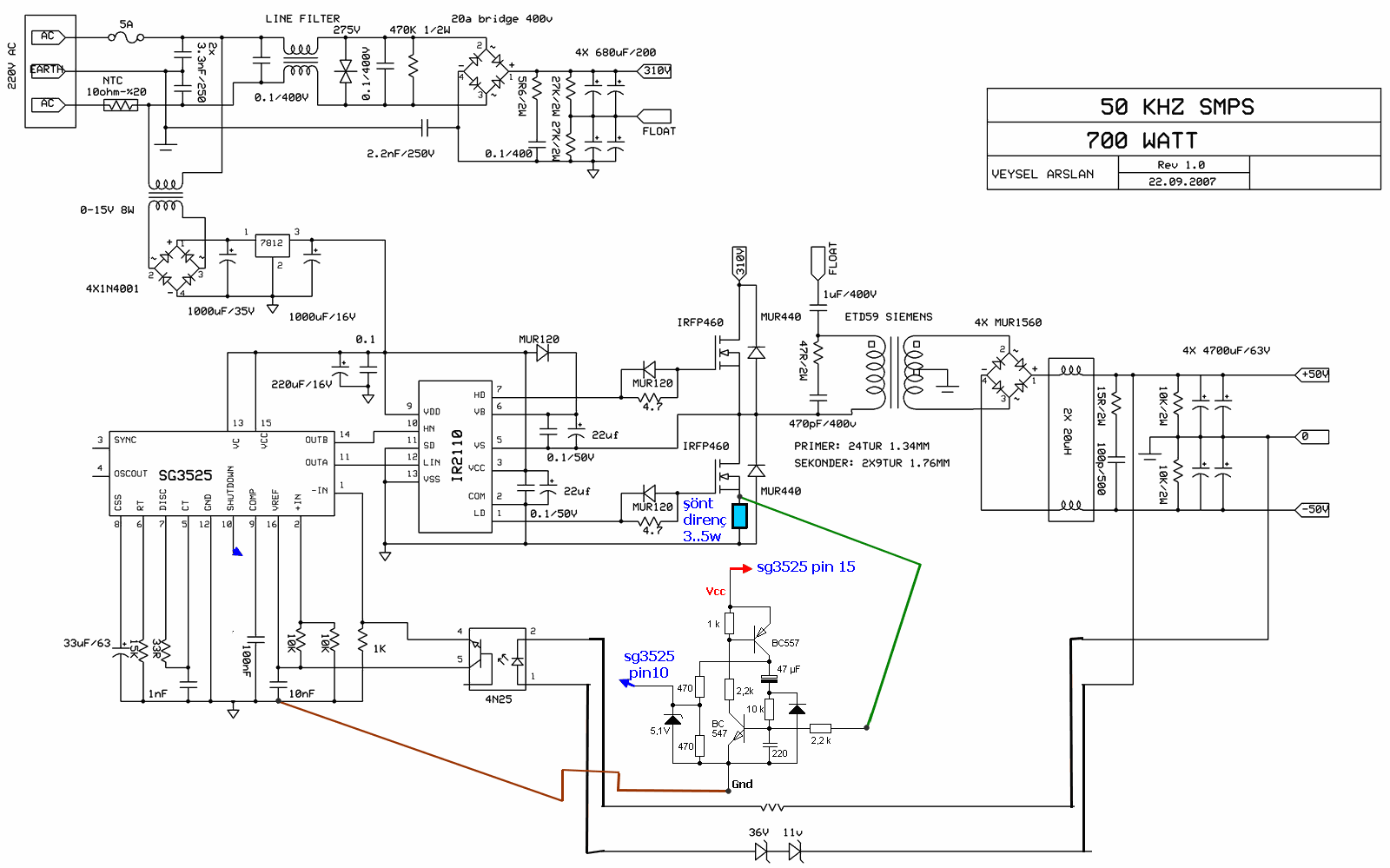 Switch Mode Power Supply Circuit Sg3525 Ir2110 900w Smps Alternate Positivevoltage Switching Regulator Diagram Shutdown Current Sens 120x120