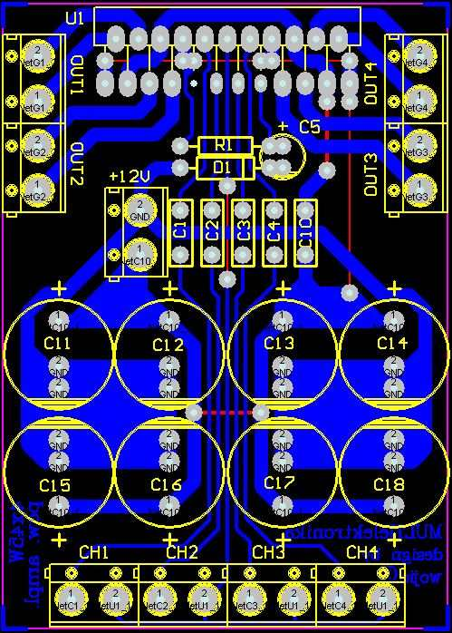 Tda J Pcb Top on Power Supply Circuit Diagram