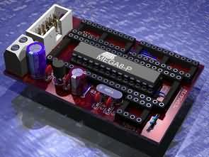 Atmel AVR programmer (USBasp) İçin DIP Adaptör PCB