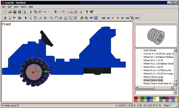 Lego models for open source free cad program leocad for Online cad program
