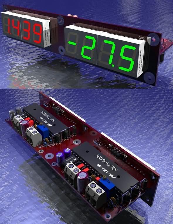Digital Voltmeter Circuit together with Dijital Voltmetre besides F Ccb E Ec C B D D Analog To Digital Converter Circuit Diagram together with Voltmeter Ilc moreover Icl Voltmeter. on icl7107 voltmeter