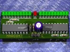 LM3914 LM3915 20 Ledli Stereo Vu Metre Devresi PCB