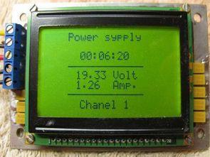 PIC16F877 MTG-12864B GLCD Volt Amper Metre