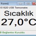 PIC18F4550 CCS C  USB Termometre