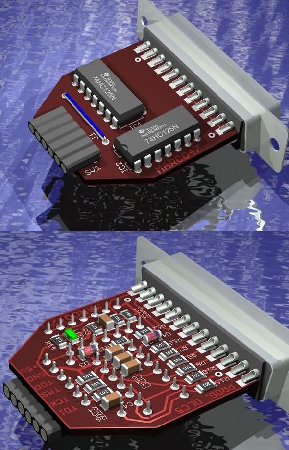 Xilinx JTAG Programmer Circuit DLC5 programmer circuit xilinx dlc5 jtag pcb circuit