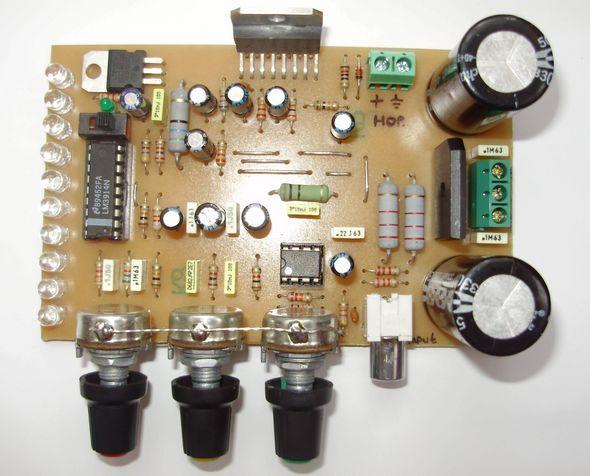 Tda7294 Komple 100w Amplifikat 246 R Vu Metre Ton Kontrol