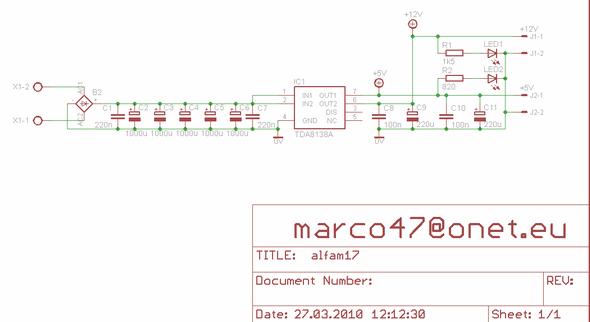 TDA8138 Two Channel Multi Regulator Circuit 5V 12V tda8138 multi regulator circuit tda8138 schema tda8138 eagle