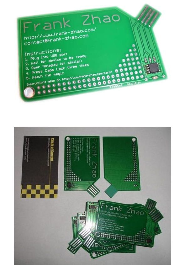 USB Business Card with attiny85 attiny85 ile usb pcb business card vusb