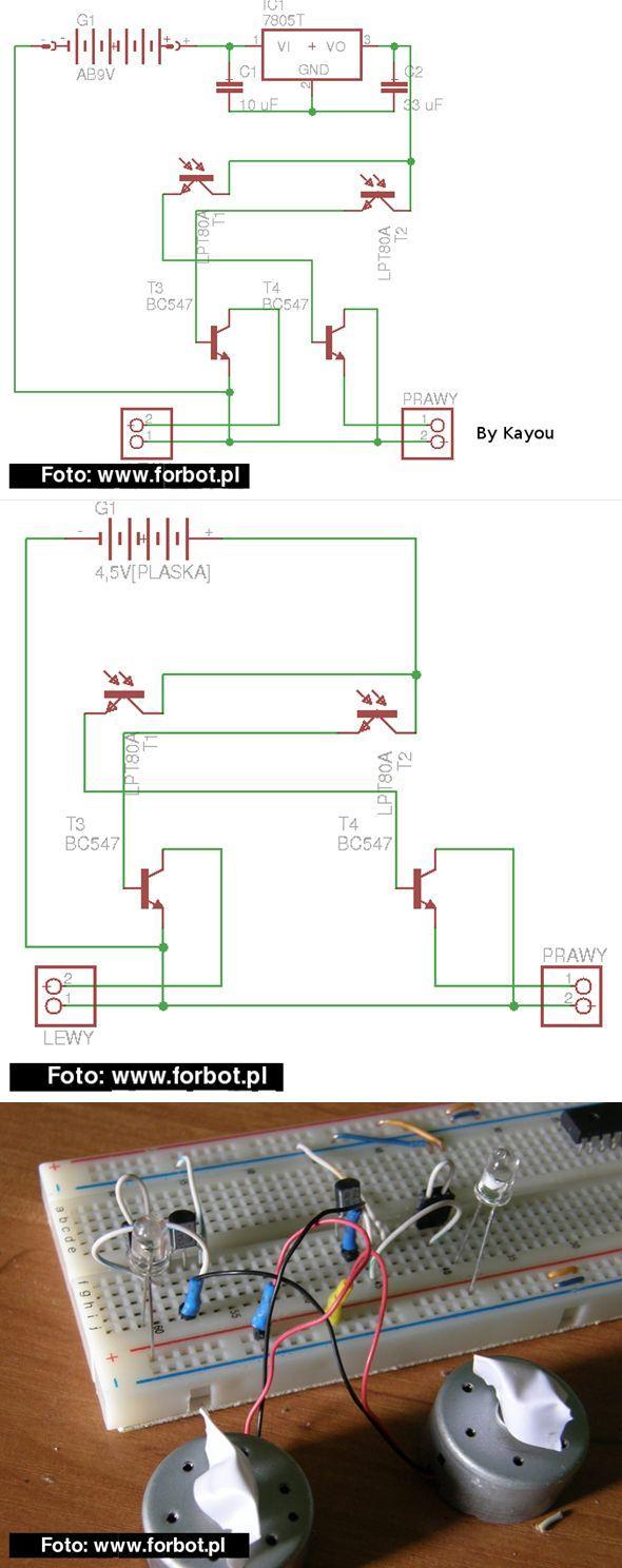 Simple Motor Controller Circuit with phototransistor dc control phototransistor resistor fototransistor motor kontrol devresi