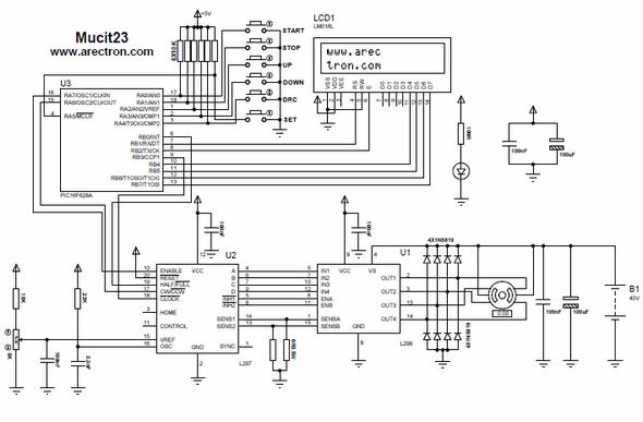 220 schematic wire diagram stepper motor driver with pic16f628a l297 l298 circuit  stepper motor driver with pic16f628a l297 l298 circuit