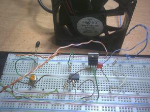 Op Amplı Sıcaklık Anahtarı Fan Kontrol