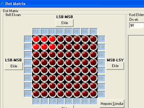 Led Bit, Dot Matrix, 7 Segment, Karekter Oluşturma Programı