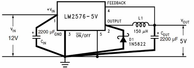 lm2576-5v-Test-Devresi