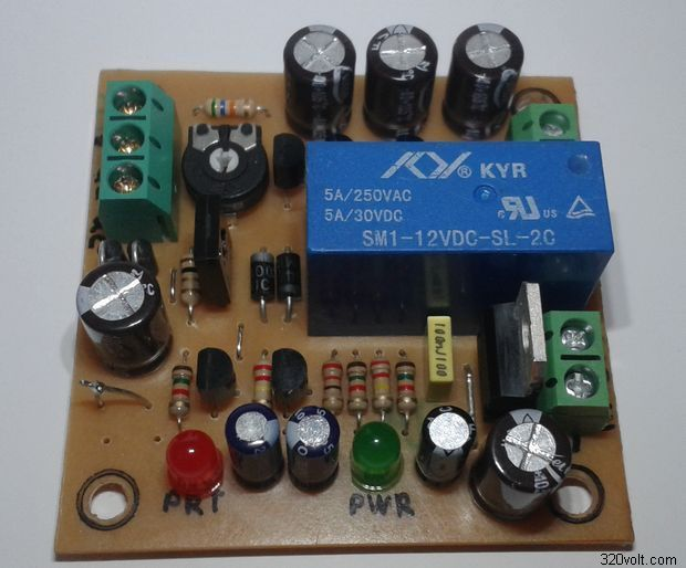 Speaker DC Protection Circuit Delayed and LED alarm speaker dc protection circuit speaker delay circuit