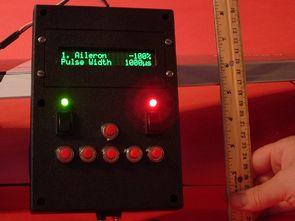 ATmega16 LCD Airplane Servo Controller