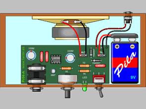 1W 2.5W Amfi Devreleri TDA7052  LM386 LM380N