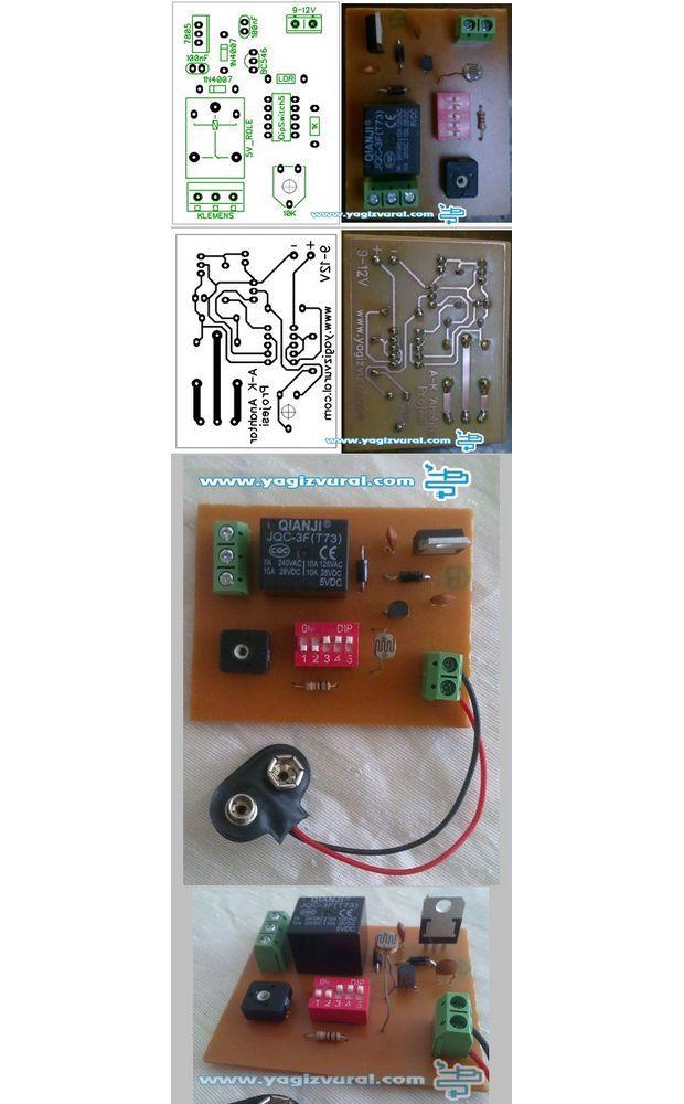 LDR and Transistor Automatic Light Dark Switch Project ldr devresi karanlikta calisan devre aydinlikta calisan devre basit devre